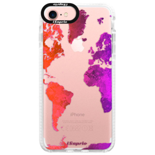Silikonové pouzdro Bumper iSaprio – Warm Map – iPhone 7 Silikonové pouzdro Bumper iSaprio – Warm Map – iPhone 7