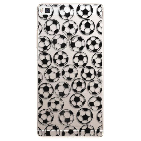 Plastové pouzdro iSaprio – Football pattern – black – Huawei Ascend P8 Plastové pouzdro iSaprio – Football pattern – black – Huawei Ascend P8