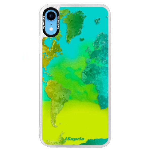 Neonové pouzdro Blue iSaprio – Cold Map – iPhone XR Neonové pouzdro Blue iSaprio – Cold Map – iPhone XR
