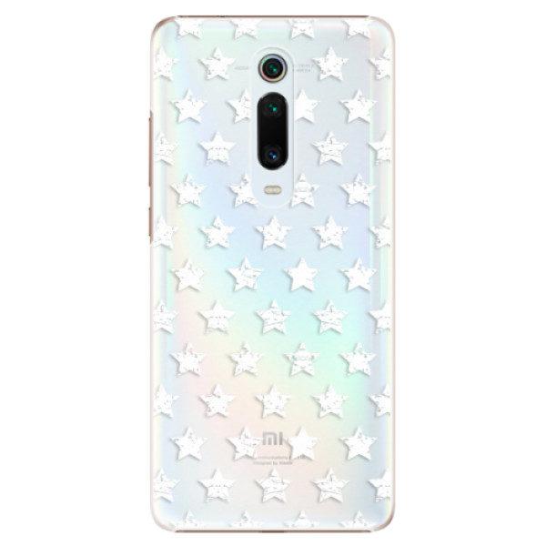Plastové pouzdro iSaprio – Stars Pattern – white – Xiaomi Mi 9T Pro Plastové pouzdro iSaprio – Stars Pattern – white – Xiaomi Mi 9T Pro
