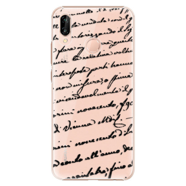 Plastové pouzdro iSaprio – Handwriting 01 – black – Huawei P20 Lite Plastové pouzdro iSaprio – Handwriting 01 – black – Huawei P20 Lite