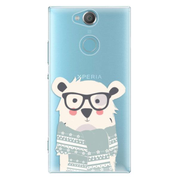 Plastové pouzdro iSaprio – Bear with Scarf – Sony Xperia XA2 Plastové pouzdro iSaprio – Bear with Scarf – Sony Xperia XA2