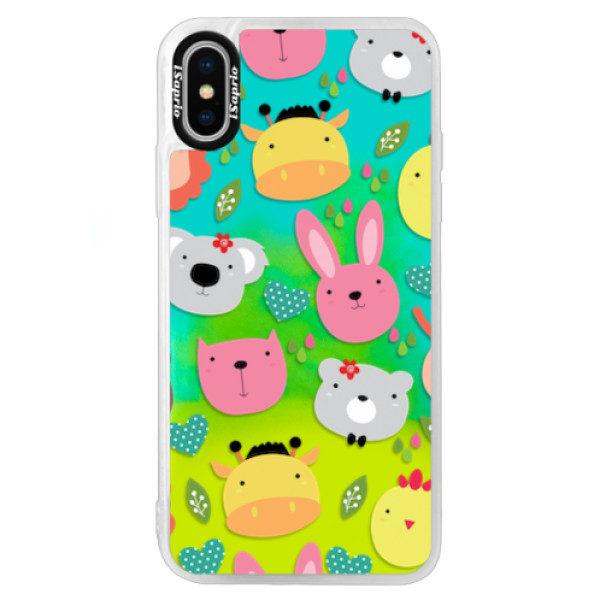 Neonové pouzdro Blue iSaprio – Animals 01 – iPhone XS Neonové pouzdro Blue iSaprio – Animals 01 – iPhone XS