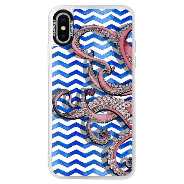 Neonové pouzdro Blue iSaprio – Octopus – iPhone X Neonové pouzdro Blue iSaprio – Octopus – iPhone X