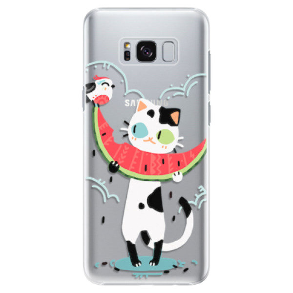 Plastové pouzdro iSaprio – Cat with melon – Samsung Galaxy S8 Plus Plastové pouzdro iSaprio – Cat with melon – Samsung Galaxy S8 Plus
