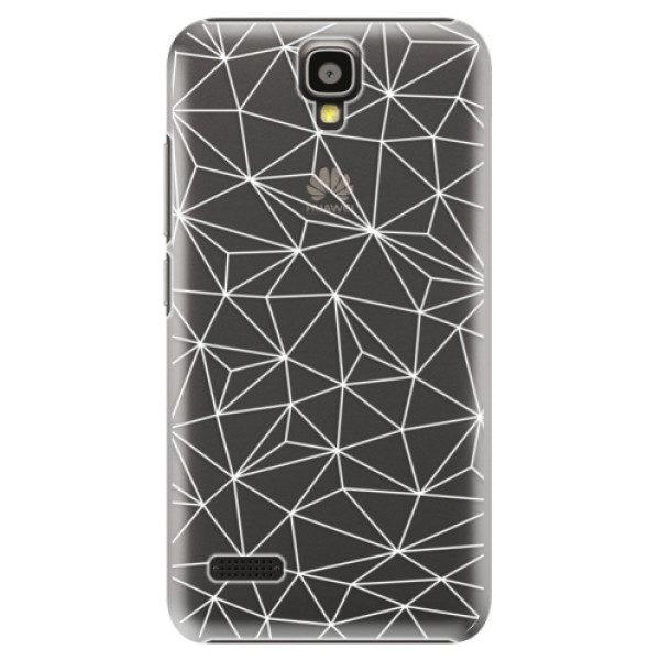 Plastové pouzdro iSaprio – Abstract Triangles 03 – white – Huawei Ascend Y5 Plastové pouzdro iSaprio – Abstract Triangles 03 – white – Huawei Ascend Y5