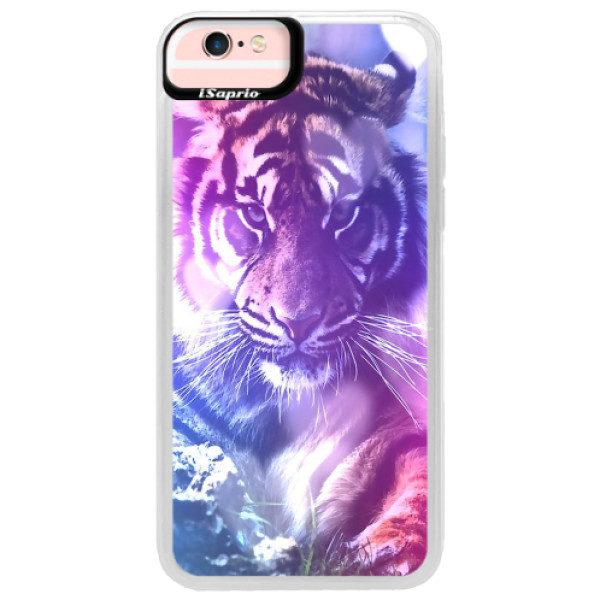 Neonové pouzdro Pink iSaprio – Purple Tiger – iPhone 6/6S Neonové pouzdro Pink iSaprio – Purple Tiger – iPhone 6/6S