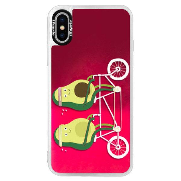Neonové pouzdro Pink iSaprio – Avocado – iPhone XS Neonové pouzdro Pink iSaprio – Avocado – iPhone XS