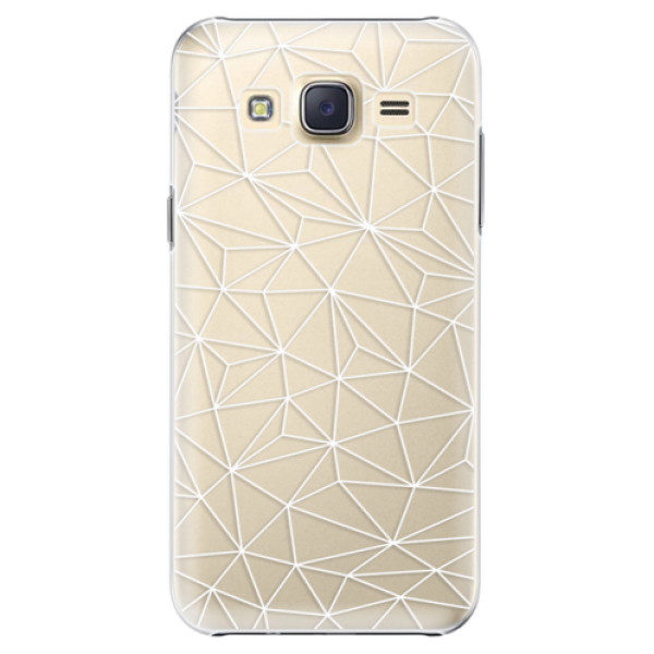 Plastové pouzdro iSaprio – Abstract Triangles 03 – white – Samsung Galaxy Core Prime Plastové pouzdro iSaprio – Abstract Triangles 03 – white – Samsung Galaxy Core Prime