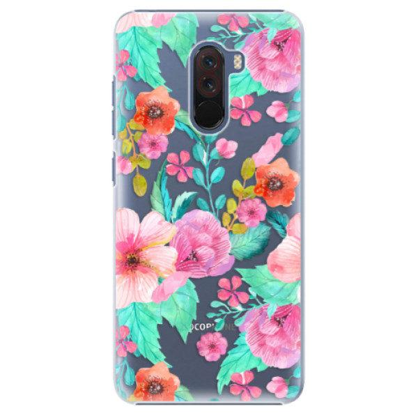 Plastové pouzdro iSaprio – Flower Pattern 01 – Xiaomi Pocophone F1 Plastové pouzdro iSaprio – Flower Pattern 01 – Xiaomi Pocophone F1