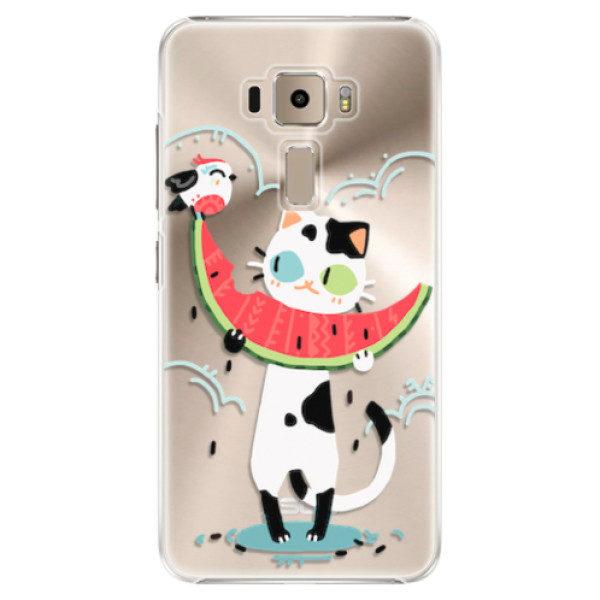 Plastové pouzdro iSaprio – Cat with melon – Asus ZenFone 3 ZE520KL Plastové pouzdro iSaprio – Cat with melon – Asus ZenFone 3 ZE520KL