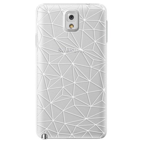 Plastové pouzdro iSaprio – Abstract Triangles 03 – white – Samsung Galaxy Note 3 Plastové pouzdro iSaprio – Abstract Triangles 03 – white – Samsung Galaxy Note 3