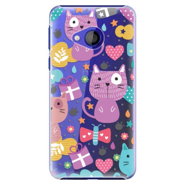 Plastové pouzdro iSaprio – Cat pattern 01 – HTC U Play Plastové pouzdro iSaprio – Cat pattern 01 – HTC U Play