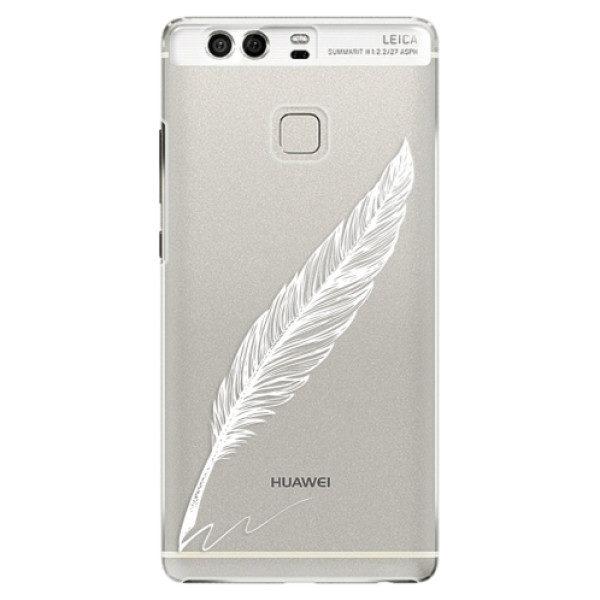 Plastové pouzdro iSaprio – Writing By Feather – white – Huawei P9 Plastové pouzdro iSaprio – Writing By Feather – white – Huawei P9