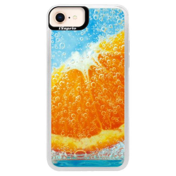 Neonové pouzdro Blue iSaprio – Orange Water – iPhone 8 Neonové pouzdro Blue iSaprio – Orange Water – iPhone 8
