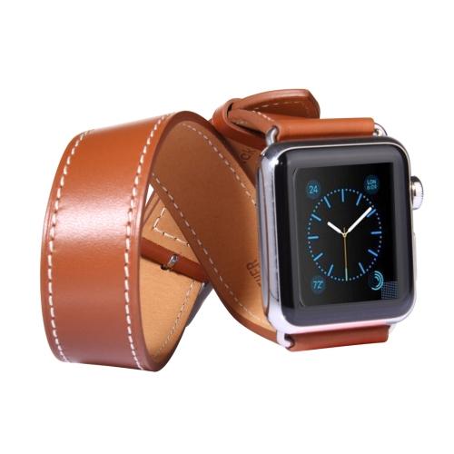 Kožený pásek / řemínek Double Circle pro Apple Watch 42mm hnědý Kožený pásek / řemínek Double Circle pro Apple Watch 42mm hnědý