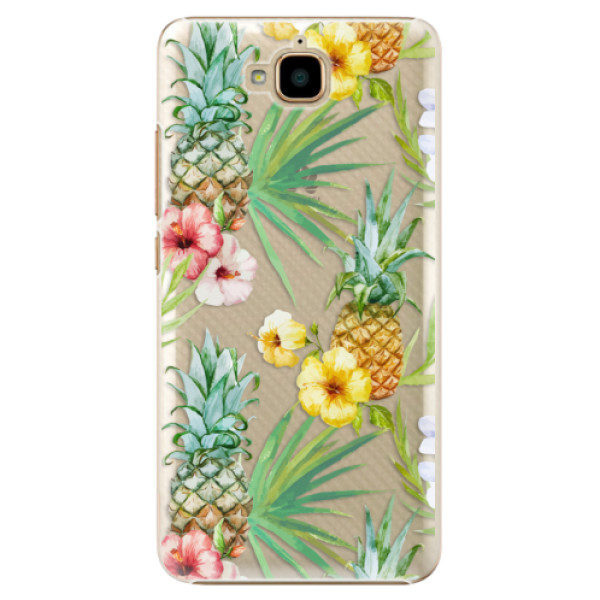 Plastové pouzdro iSaprio – Pineapple Pattern 02 – Huawei Y6 Pro Plastové pouzdro iSaprio – Pineapple Pattern 02 – Huawei Y6 Pro