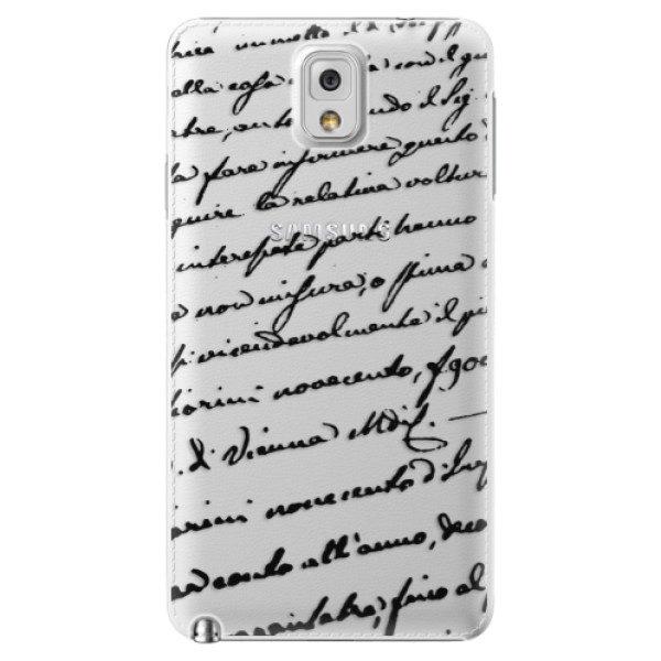 Plastové pouzdro iSaprio – Handwriting 01 – black – Samsung Galaxy Note 3 Plastové pouzdro iSaprio – Handwriting 01 – black – Samsung Galaxy Note 3