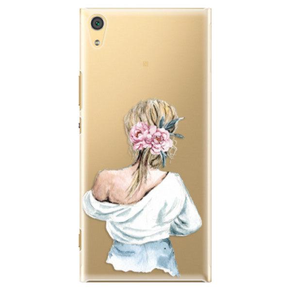 Plastové pouzdro iSaprio – Girl with flowers – Sony Xperia XA1 Ultra Plastové pouzdro iSaprio – Girl with flowers – Sony Xperia XA1 Ultra