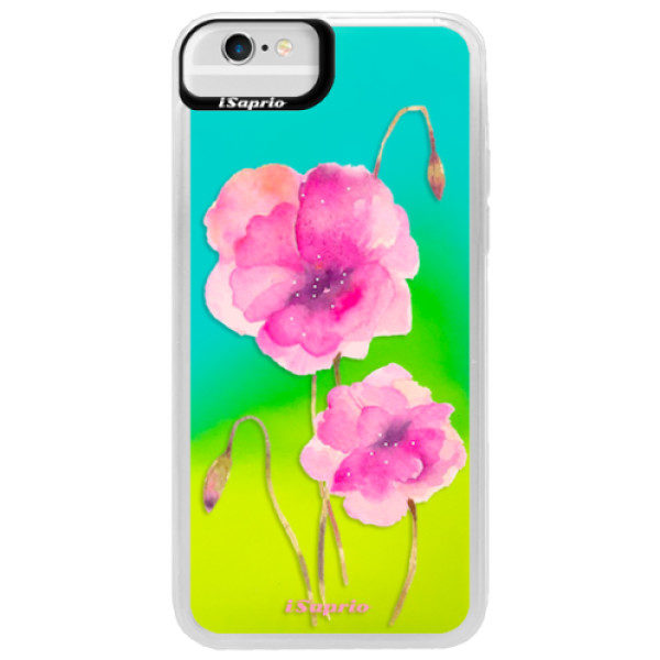 Neonové pouzdro Blue iSaprio – Poppies 02 – iPhone 6/6S Neonové pouzdro Blue iSaprio – Poppies 02 – iPhone 6/6S