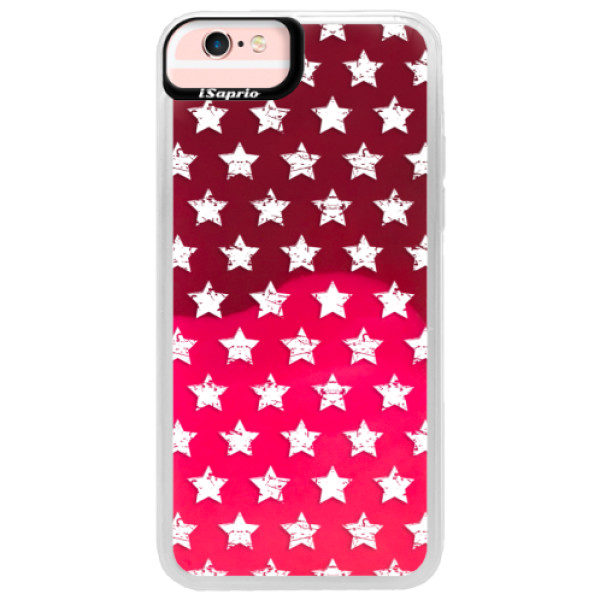 Neonové pouzdro Pink iSaprio – Stars Pattern – white – iPhone 6/6S Neonové pouzdro Pink iSaprio – Stars Pattern – white – iPhone 6/6S
