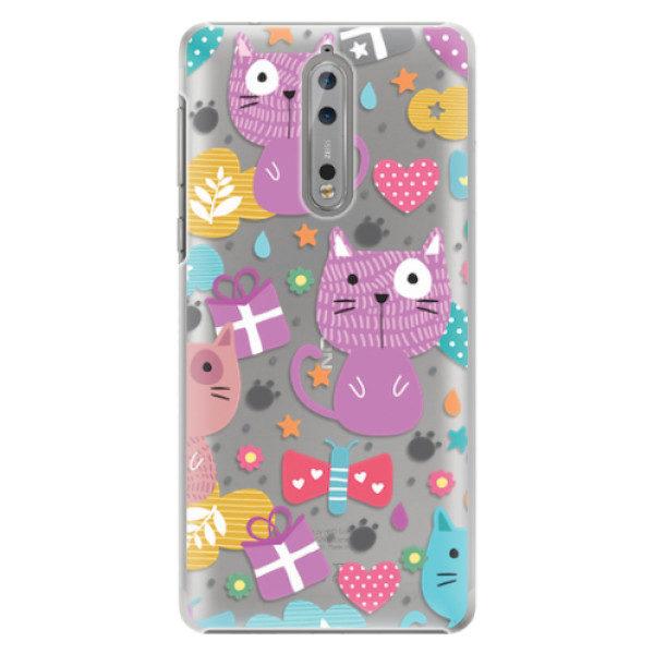Plastové pouzdro iSaprio – Cat pattern 01 – Nokia 8 Plastové pouzdro iSaprio – Cat pattern 01 – Nokia 8