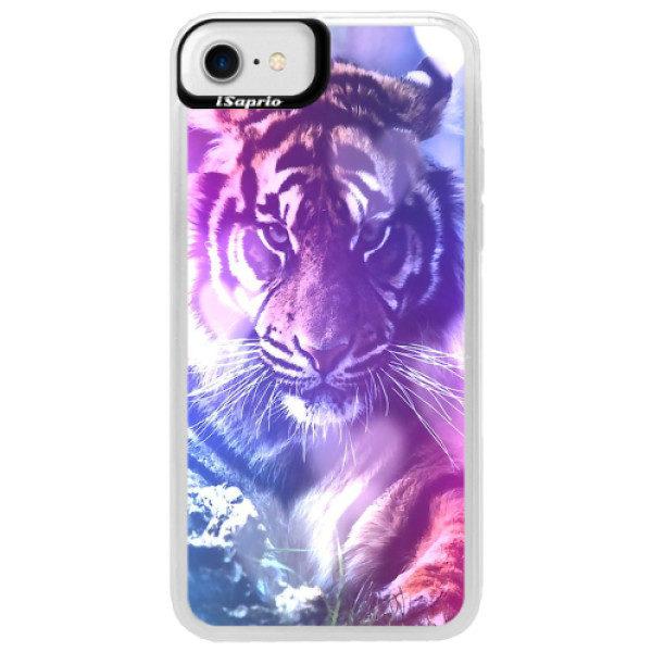 Neonové pouzdro Blue iSaprio – Purple Tiger – iPhone 7 Neonové pouzdro Blue iSaprio – Purple Tiger – iPhone 7