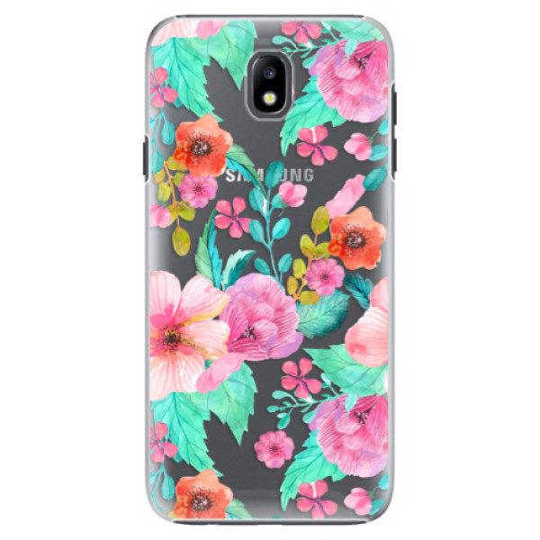 Plastové pouzdro iSaprio – Flower Pattern 01 – Samsung Galaxy J7 2017 Plastové pouzdro iSaprio – Flower Pattern 01 – Samsung Galaxy J7 2017