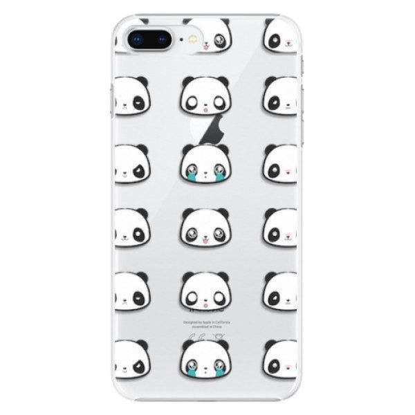 Plastové pouzdro iSaprio – Panda pattern 01 – iPhone 8 Plus Plastové pouzdro iSaprio – Panda pattern 01 – iPhone 8 Plus