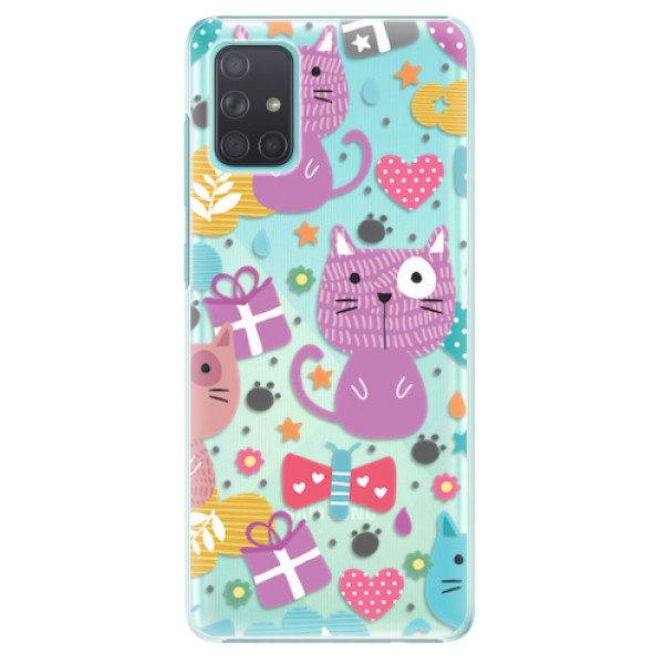 Plastové pouzdro iSaprio – Cat pattern 01 – Samsung Galaxy A71 Plastové pouzdro iSaprio – Cat pattern 01 – Samsung Galaxy A71