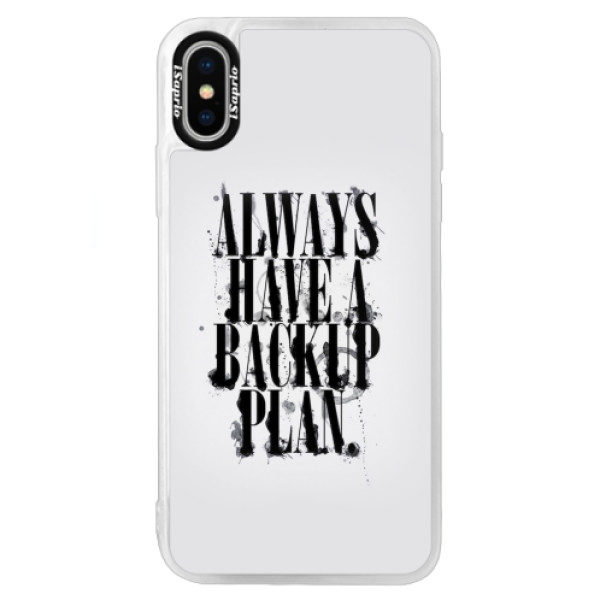 Neonové pouzdro Blue iSaprio – Backup Plan – iPhone XS Neonové pouzdro Blue iSaprio – Backup Plan – iPhone XS