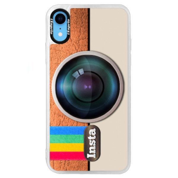 Neonové pouzdro Blue iSaprio – Insta – iPhone XR Neonové pouzdro Blue iSaprio – Insta – iPhone XR