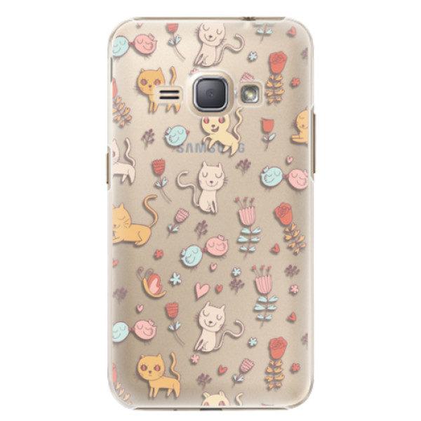Plastové pouzdro iSaprio – Cat pattern 02 – Samsung Galaxy J1 2016 Plastové pouzdro iSaprio – Cat pattern 02 – Samsung Galaxy J1 2016