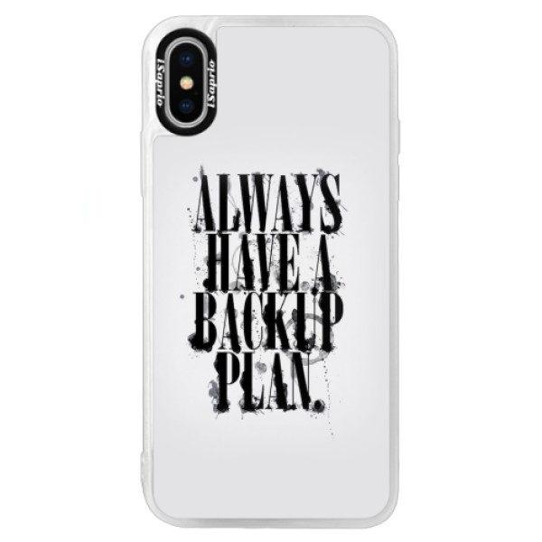 Neonové pouzdro Blue iSaprio – Backup Plan – iPhone X Neonové pouzdro Blue iSaprio – Backup Plan – iPhone X