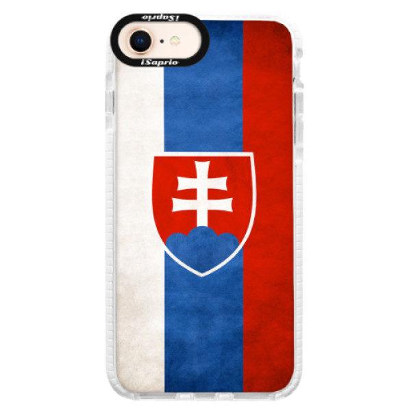Silikonové pouzdro Bumper iSaprio – Slovakia Flag – iPhone 8 Silikonové pouzdro Bumper iSaprio – Slovakia Flag – iPhone 8