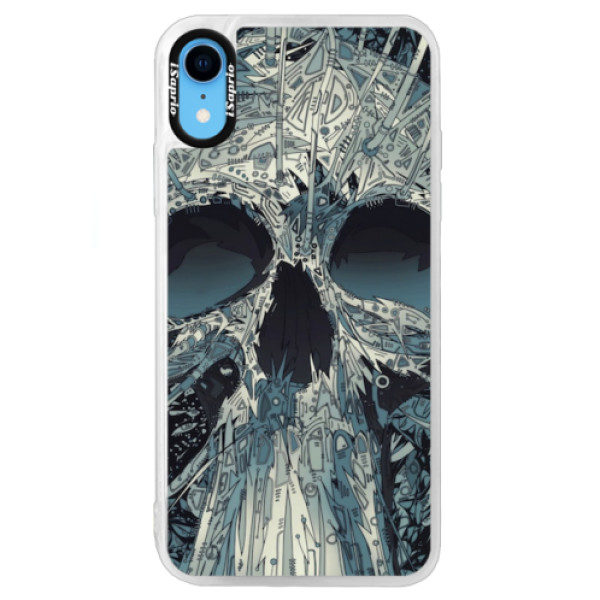 Neonové pouzdro Blue iSaprio – Abstract Skull – iPhone XR Neonové pouzdro Blue iSaprio – Abstract Skull – iPhone XR