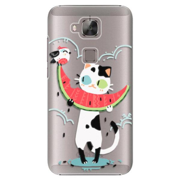 Plastové pouzdro iSaprio – Cat with melon – Huawei Ascend G8 Plastové pouzdro iSaprio – Cat with melon – Huawei Ascend G8
