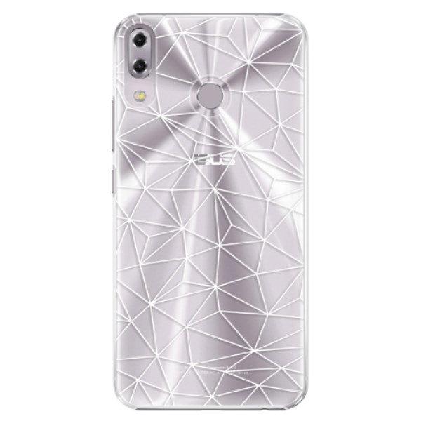 Plastové pouzdro iSaprio – Abstract Triangles 03 – white – Asus ZenFone 5 ZE620KL Plastové pouzdro iSaprio – Abstract Triangles 03 – white – Asus ZenFone 5 ZE620KL
