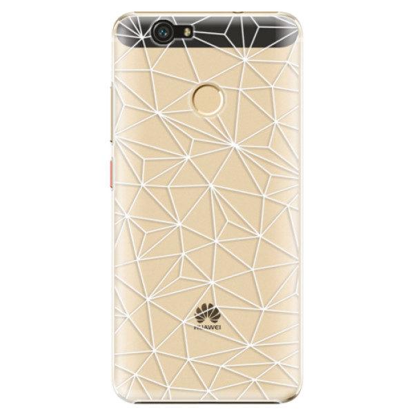 Plastové pouzdro iSaprio – Abstract Triangles 03 – white – Huawei Nova Plastové pouzdro iSaprio – Abstract Triangles 03 – white – Huawei Nova