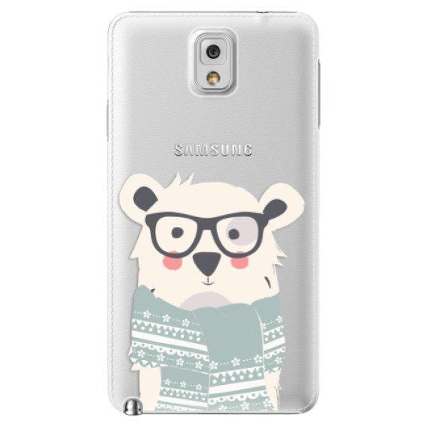 Plastové pouzdro iSaprio – Bear with Scarf – Samsung Galaxy Note 3 Plastové pouzdro iSaprio – Bear with Scarf – Samsung Galaxy Note 3