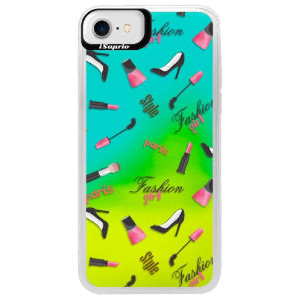 Neonové pouzdro Blue iSaprio – Fashion pattern 01 – iPhone 7 Neonové pouzdro Blue iSaprio – Fashion pattern 01 – iPhone 7