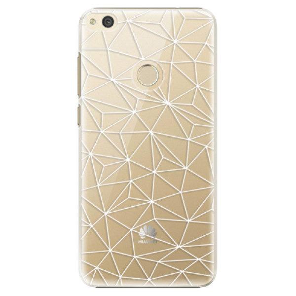 Plastové pouzdro iSaprio – Abstract Triangles 03 – white – Huawei P8 Lite 2017 Plastové pouzdro iSaprio – Abstract Triangles 03 – white – Huawei P8 Lite 2017