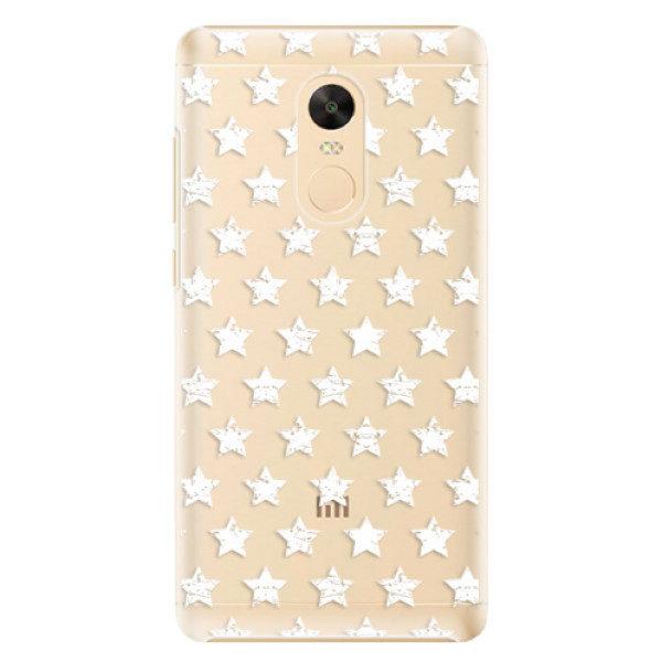 Plastové pouzdro iSaprio – Stars Pattern – white – Xiaomi Redmi Note 4X Plastové pouzdro iSaprio – Stars Pattern – white – Xiaomi Redmi Note 4X