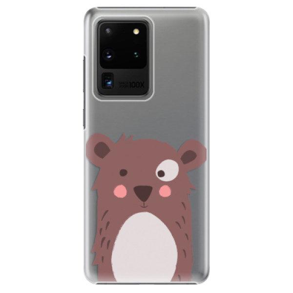 Plastové pouzdro iSaprio – Brown Bear – Samsung Galaxy S20 Ultra Plastové pouzdro iSaprio – Brown Bear – Samsung Galaxy S20 Ultra