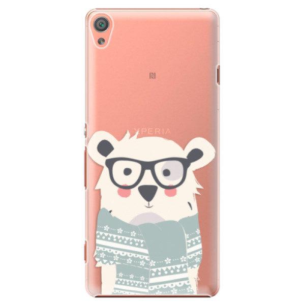 Plastové pouzdro iSaprio – Bear with Scarf – Sony Xperia XA Plastové pouzdro iSaprio – Bear with Scarf – Sony Xperia XA
