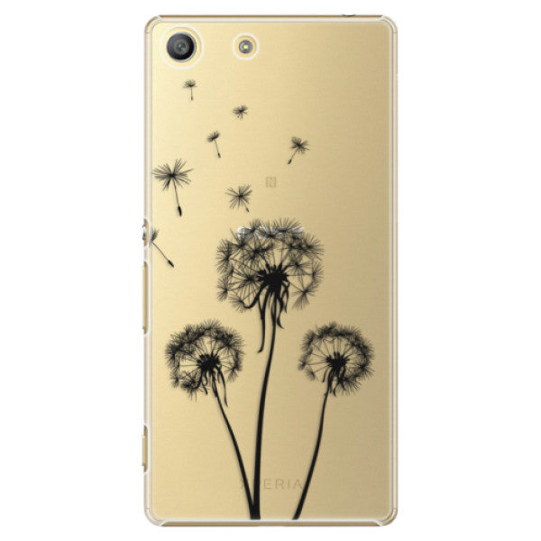 Plastové pouzdro iSaprio – Three Dandelions – black – Sony Xperia M5 Plastové pouzdro iSaprio – Three Dandelions – black – Sony Xperia M5