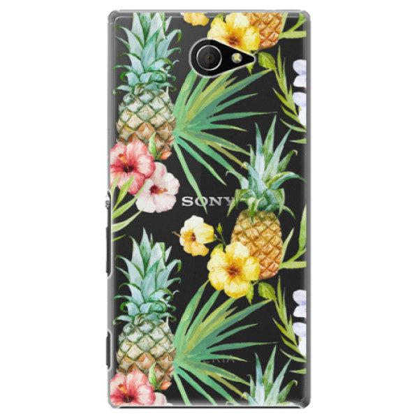 Plastové pouzdro iSaprio – Pineapple Pattern 02 – Sony Xperia M2 Plastové pouzdro iSaprio – Pineapple Pattern 02 – Sony Xperia M2
