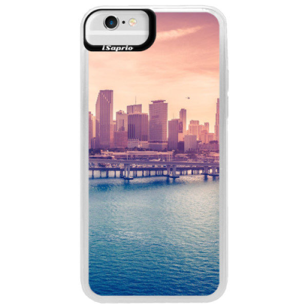 Neonové pouzdro Blue iSaprio – Morning in a City – iPhone 6/6S Neonové pouzdro Blue iSaprio – Morning in a City – iPhone 6/6S