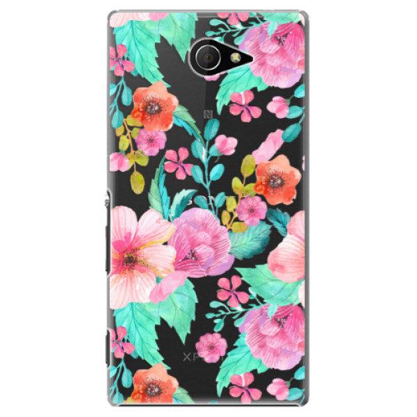 Plastové pouzdro iSaprio – Flower Pattern 01 – Sony Xperia M2 Plastové pouzdro iSaprio – Flower Pattern 01 – Sony Xperia M2