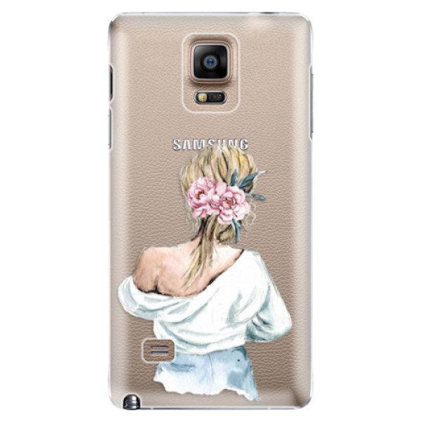 Plastové pouzdro iSaprio – Girl with flowers – Samsung Galaxy Note 4 Plastové pouzdro iSaprio – Girl with flowers – Samsung Galaxy Note 4